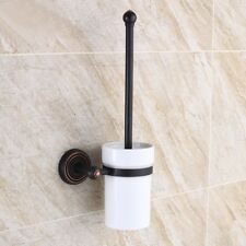 Oil Rubbed Bronze Wall Mounted Bathroom Toilet Cleaning Brush and Holder Set