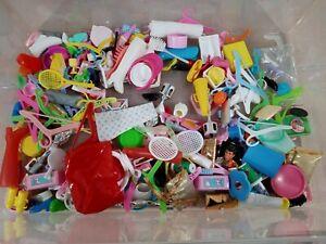 Barbie Mattel 1980's 1990's Huge Accessories Lot Purses Food Hangers Shoes Etc