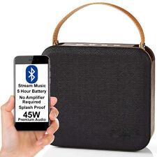 45W Waterproof Bluetooth Speaker -WOOD- Wireless Portable Rechargeable BASS AUX