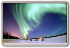 FRIDGE MAGNET - AURORA BOREALIS - Large Jumbo - Northern Lights White Snow