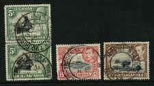 KENYA + TANGANYIKA RAILWAY 1938-41 MWANZA TPO DOWN + NYERI STATION...4 stamps