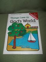 Things I See In God's World Coloring book, Ages 4 - 8, English God, Illustrated