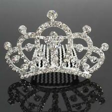 New Wedding Party Bridal Princess Small Rhinestone Crown Hair Comb Pin Tiara Hot