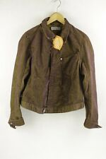 Girls LEVIS Denim ENGINEERED Jacket SLIM CORDUROY Zip Large BURNT Brown UP2RL