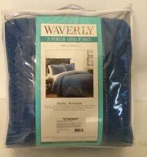 WAVERLY 3 Piece Quilt Set! FULL/QUEEN  Skylar - Porcelain #11922  BRAND NEW!