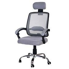 Fauteuil de bureau Arendal, chaise rotative, appui-tête, tissu ~ gris