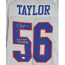NFL New York Giants Lawrence Taylor #56 Autographed Signed Jersey White
