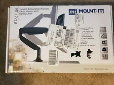 MI-1771 Height Adjustable Monitor Desk Mount with Spring Arm.