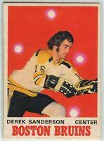 1970-71 O-Pee-Chee #136 Derek Sanderson VG-EX - SET BREAK (112919-23)