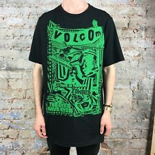 Volcom Zombies Short Sleeve T-Shirt Brand New Black/Green size - L