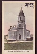 WEST WINFIELD NEW YORK NY Methodist Church Vintage Postcard PC