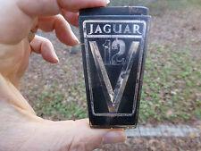 """Jaguar V12 Hood Grille emblem badge ornament plastic 2 15/16"""" high"""