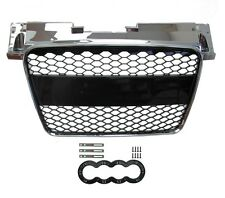 Chrome+Black Front Conversion Grille RS style Audi TT Honeycomb mesh 2008-14 8j