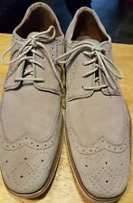 Stacy Adams wingtips oxfords gray size 9-M men suede/leather beautiful