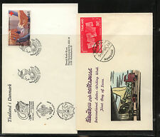 Thailand 2 cachet covers 1966 1982 Kl0130