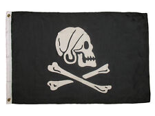 2x3 Jolly Roger Pirate Capt Henry Every Avery Black Flag 2'x3' House Banner