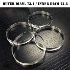 SET OF 4 HUB CENTRIC HUBCENTRIC ALUMINUM RINGS 73.1mm - 72.6mm 73 72.56 FOR BMW