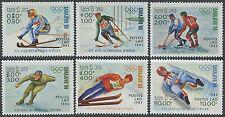 LAOS N°487/492** Jeux olympiques d'hiver (Sarajevo) 1983 Olympic games set MNH