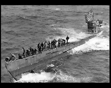 1944 German U Boat 505 Captured PHOTO US Navy World War 2 Nazi Germany Submarine