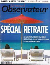 LE NOUVEL OBSERVATEUR N°2548 5 SEPTEMBRE 2013  SPECIAL RETRAITE/ AL-ASSAD/ TAXIS