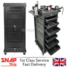 Salon Hairdresser Barber Hair Beauty Storage Trolley Drawers Colouring Lockable