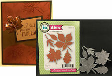 Large Leaves metal die set DIE030-S Impression Obsession dies oak maple leaf