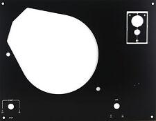 Deckplatte Platte faceplate für Thorens TD145 146 147 160 - 166 schwarz eloxiert
