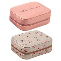 Portable Jewelry Box Zipper Storage Organizer Jewelry Holder Packaging B1N9