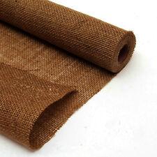 Rotolo di Tessuto Iuta Naturale da 4 Metri (Larghezza 50cm) (Caffè)