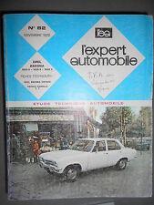 Opel ASCONA 1200S 1600S 1900S : revue technique EA 82