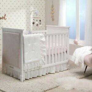 LAMBS & IVY Signature Separates Cotton Crib Skirt White
