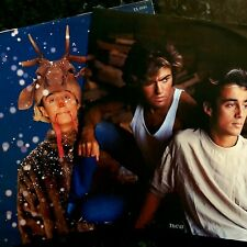 """2 x Wham! 12"""" - Last Christmas / Everything She Wants / Freedom - Ex Con 12"""" P/S"""