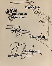 Vintage Metallica Autogramm Autograph signed. Mit Zeichnung!