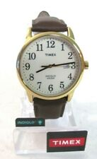 Timex TW2P75800 Easy Reader Brown/Gold Tone Cream Leather Strap Watch 6904 []
