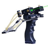 Slingshot Bow Catapult Rubber Band Hunting Green Laser Fionde Caccia