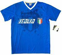 Italy Italia Rhinox Blue Performance Training Jersey Soccer T-Shirt Men S M L XL