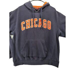 CHICAGO BEARS Sweatshirt Women's Navy COLOSSEUM AUTHENTIC Size Large