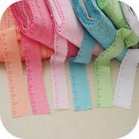 100% Cotton Embroidered Edge Trim Flower Guipure Lace Fabric Ribbon 1.37'' Width