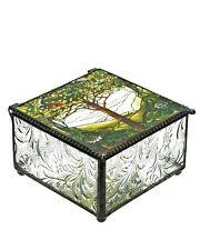 Tiffany Tree of Life Glass Jewelry Trinket Box