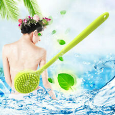 1pc Silicone Brush Back Scrubber with Long Handle Bath Body Brush Fd