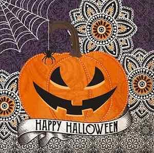 Paper Luncheon Napkins Happy Halloween Party Decor Jack o Lantern 6.5 inch