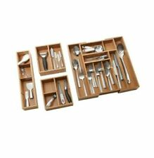 Seville Expandable Bamboo Drawer Organizer Adjustable Tray 4-Pieces
