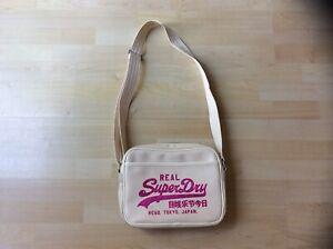 Superdry Beige & Pink Cross Body Shoulder Bag