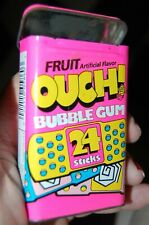 Vnt Pink 1992 Amurol OUCH Band Aid Bubble Gum Container Candy Tin Box Empty