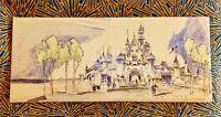 "Herb Ryman 15x30"" Canvas Concept Art Disneyland Hotel 1954 Walt Disney Giclee"