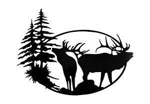 Elk Oval Steel/Metal Sign Laser cut decor gift idea