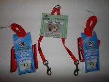 Ferret - 2 Harness / Lead Sets+Tandem Coupler - Red