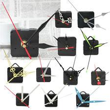 Fancy Silver Color Quartz Clock Movement Mechanism Long Spindle Kit Repair Parts