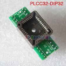 PLCC32 TO DIP32 Adapter Converter Universal Bios Testblock Burning Seat