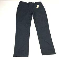 River Island Mens Chino Pants Slim Fit Regular Length Solid Navy Sz W34/L30 G34